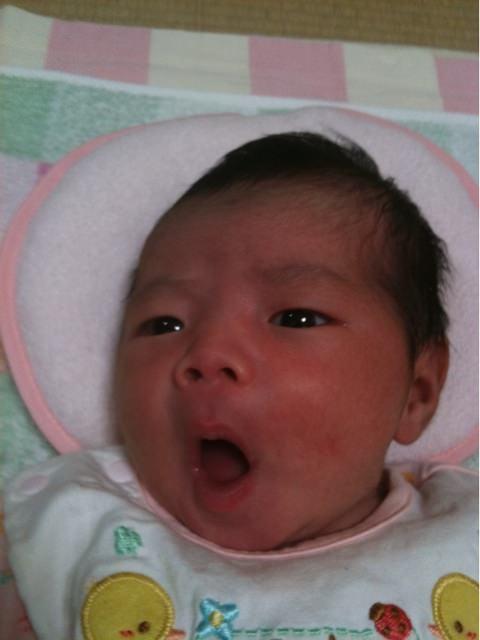 奈々ちゃんがお母ちゃんと一緒に無事に退院してきました。