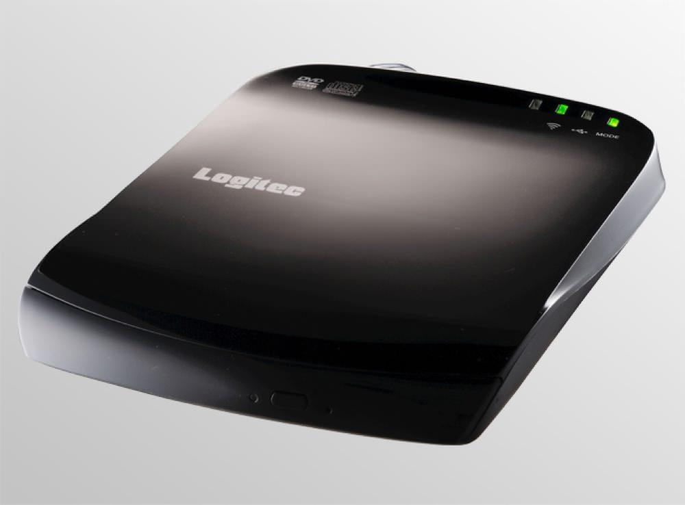 iPhoneやiPadで映画DVDや音楽CDが再生できて書き込みまで出来る!無線LAN対応のマルチDVDドライブ。