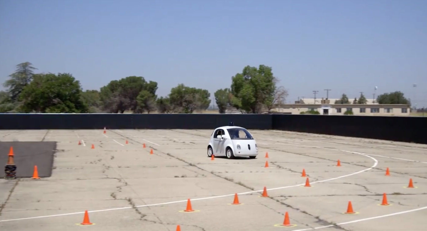 Googleの全自動運転車 テスト風景